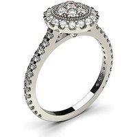 Cluster Diamond Ring White Gold 0.65ct H-I I1
