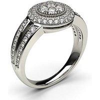 Cluster Diamond Ring White Gold 0.80ct H-I I1