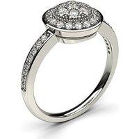 Cluster Diamond Ring White Gold 0.40ct H-I I1