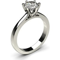 Solitaire Engagement Ring inWhite Gold with 0.90ct Diamond H I1
