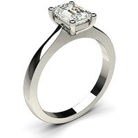 Solitaire Engagement Ring in White Gold with 0.90ct Diamond H SI1