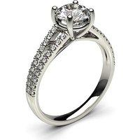 Side Stone Engagement Ring inWhite Gold with 0.90ct Diamond H I1