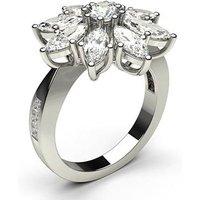 Cluster Diamond Ring White Gold 2.05ct H-I SI