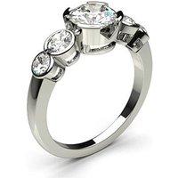 Five Stone Diamond Ring White Gold 1.00ct H-I I1