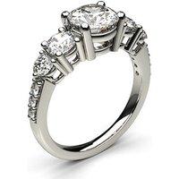 Five Stone Diamond Ring White Gold 1.25ct H-I I1