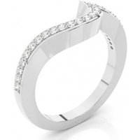 Shaped Wedding Ring White Gold in 1.7mm