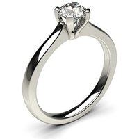 Solitaire Engagement Ring inWhite Gold with 0.50ct Diamond H I1