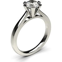 Solitaire Engagement Ring in White Gold with 1.00ct Diamond H I1