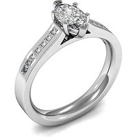 6 Prong Setting Side Stone Engagement Ring