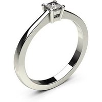 Solitaire Engagement Ring inWhite Gold with 0.15ct Diamond H I1