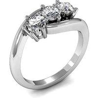 TrilogyEngagement Ring inWhite Gold with 0.25ct Diamond H-I I1