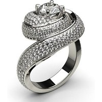 Fashion Diamond Ring White Gold 1.00ct H-I I1