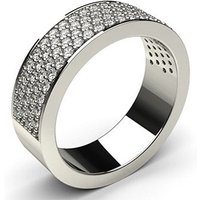 Diamond Half Eternity Ring White Gold 0.80ct H-I I1