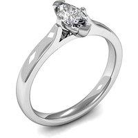 4 Prong Setting Marquise Diamond Plain Engagement Ring