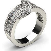 Fashion Diamond Ring White Gold H-I SI