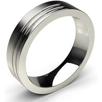 Contemporary Wedding Ring White Gold in 2mm