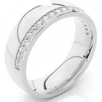 Diamond Wedding Ring White Gold in 1.9mm