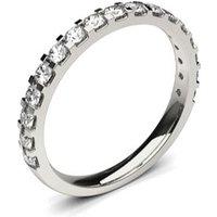 Diamond Half Eternity Ring White Gold H-I I1