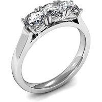 TrilogyEngagement Ring inWhite Gold with 0.35ct Diamond H-I I1