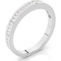 Half Eternity Wedding Ring White Gold in 1.5mm