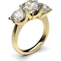 Trilogy Engagement Ring in White Gold with 3.75ct Diamond D-E VVS