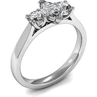 Trilogy Engagement Ring in White Gold with 0.25ct Diamond H-I SI