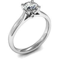 Solitaire Engagement Ring inWhite Gold with 0.30ct Diamond H I1