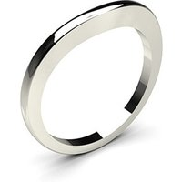 Shaped Wedding Ring White Gold in 1.6mm