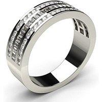 Diamond Half Eternity Ring White Gold 0.55ct H-I SI