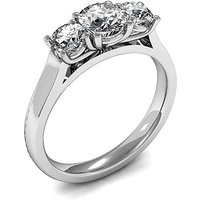 Trilogy Engagement Ring in White Gold with 0.35ct Diamond H-I I1