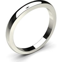 Shaped Wedding Ring White Gold in 2.6mm