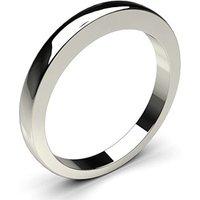 Plain Wedding Ring White Gold in 1.5mm