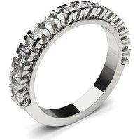 Diamond Half Eternity Ring White Gold 0.70ct H-I I1