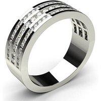 Diamond Half Eternity Ring White Gold 0.55ct H-I I1