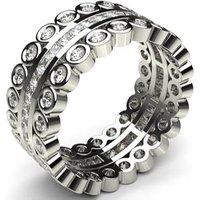 Diamond Full Eternity Ring White Gold H-I SI