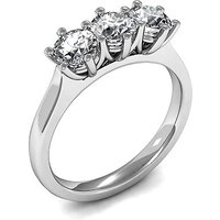 Trilogy Engagement Ring in White Gold with 0.45ct Diamond H-I I1