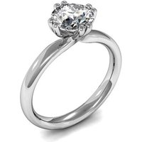 Solitaire Engagement Ring in White Gold with 0.90ct Diamond H I1