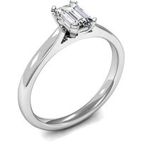 Solitaire Engagement Ring in White Gold with 0.60ct Diamond H SI1