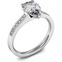 3 Prong Setting Side Stone Engagement Ring