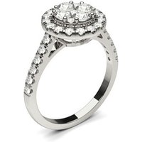 Halo Engagement Ring in White Gold with 0.95ct Diamond H-I I1