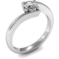 Solitaire Engagement Ring in White Gold with 0.20ct Diamond H I1