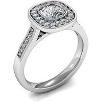 Halo Engagement Ring in White Gold with 0.30ct Diamond H SI1