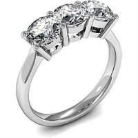 Trilogy Engagement Ring in White Gold with 0.25ct Diamond H-I I1