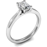 Solitaire Engagement Ring inWhite Gold with 0.30ct Diamond H SI1