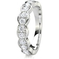 Diamond Half Eternity RingWhite Gold 0.65ct F-G SI