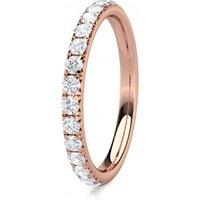 Diamond Half Eternity Ring White Gold 0.40ct F-G SI