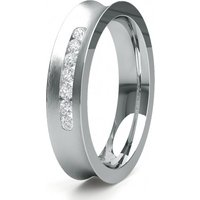 Contemporary Wedding Ring White Gold in 2.5mm
