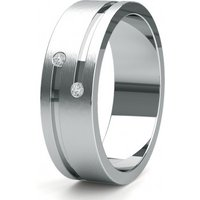 Contemporary Wedding Ring White Gold in 1.7mm