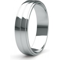 Contemporary Wedding Ring White Gold in 1.5mm