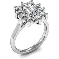 Cluster Diamond Ring White Gold 2.00ct H-I SI